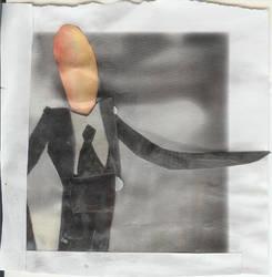 Slenderman Polaroid by GiaGorilla
