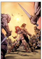 Conan and Red Sonja Color Sample 1 By Assis Leite by assisleite