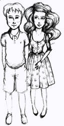 Couple Sketchy by Adelie-Helene
