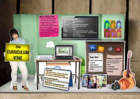 My CV Resume Pop Up Card by y0rri