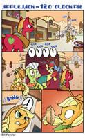 Applejack in 12 O'Clock Pie by BillForster