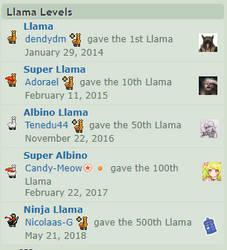 Ninja Llama!!!!!! YAY! ^^ by sammy149