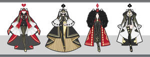 [Closed] The Queens Outfits by Malikui