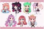 Chibi commissions batch by cutesy-kitty