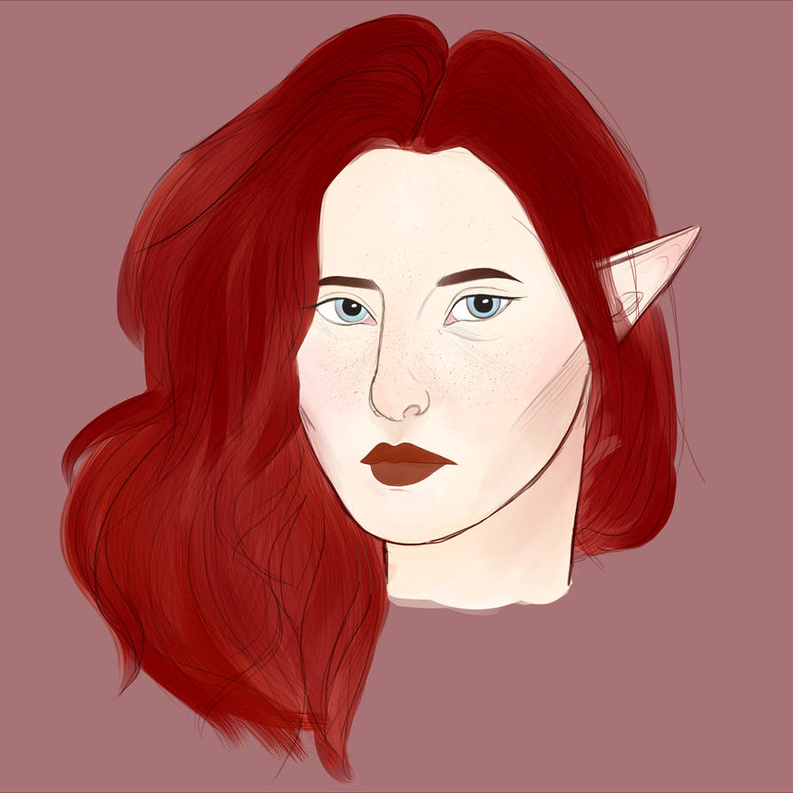 elven lady by DoeButts