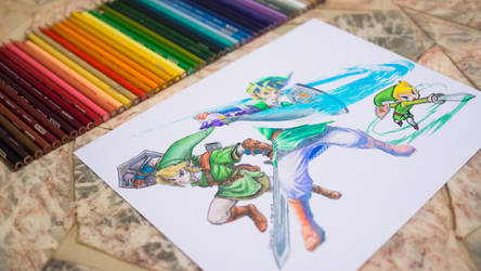 The Legend Of Zelda - Links by Opheroth