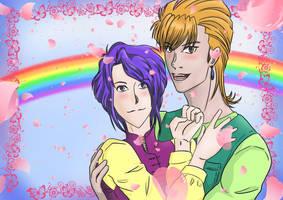 Nuriko and Tasuki by Myuca