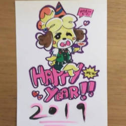 Isabelle wish you a happy new year by earthwar-jim