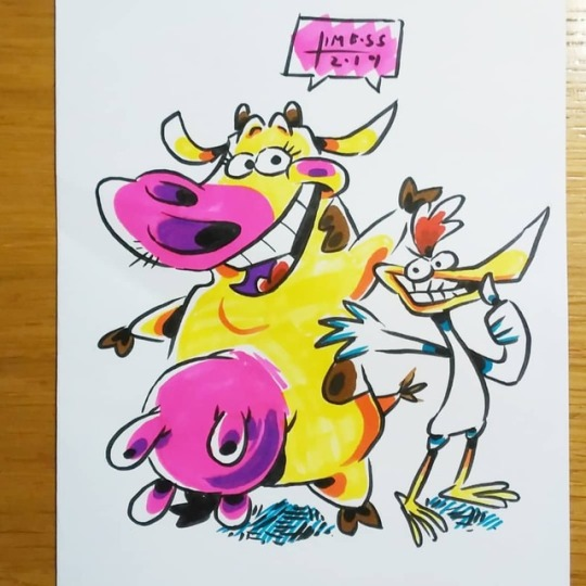 Cow and Chicken by earthwar-jim