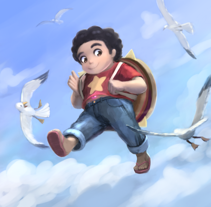 Steven walking on air! Floating is the best ability. When I was young I often dreamed of walking on air. Not flying mind you, but walking. I could ascend into the sky just by going through the same...