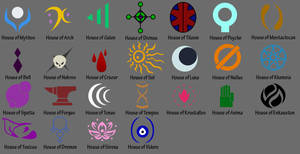 House Crests by Zephyros-Phoenix