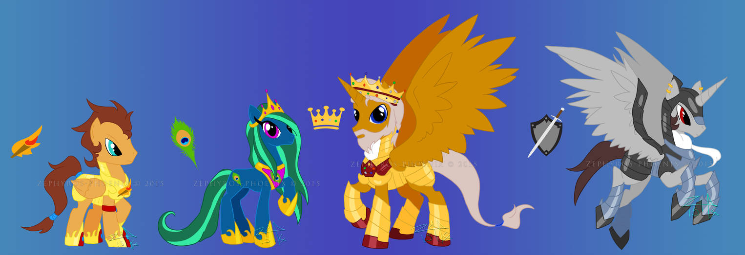 Mlp Fim Charas Prometheus And The Royal Family By Zephyros Phoenix