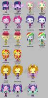 My Little Pony Funko Pop Vinyls - Rainbow Rocks by Zephyros-Phoenix