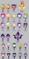 My Little Pony Funko Pop Vinyls - Friendship Games by Zephyros-Phoenix