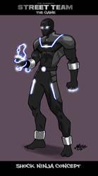 Shock Ninja Concept Art by mase0ne