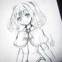 Little girl draw by ilovetheanime