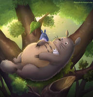 Totoro by 8Bpencil