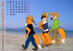 Fox Calendar 2014 - September by micke-m