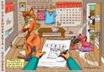 Fox Calendar 2014 - October by micke-m