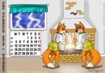Fox Calendar 2015 - October by micke-m