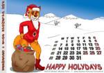 Fox Calendar 2015 - December by micke-m