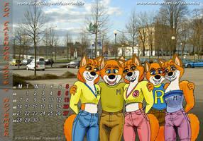 Fox Calendar 2016 - November - by Micke by micke-m
