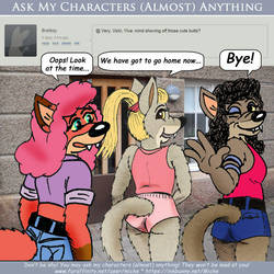 Ask My Chars - Mind showing off those cute butts? by micke-m