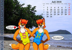 Fox Calendar 2018 - July by micke-m
