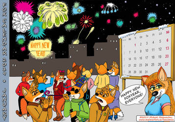 Fox Calendar 2019 - January by micke-m