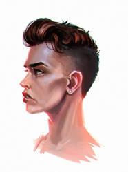 Commission: Amanda Athene Shepard 2 by LuckyFK