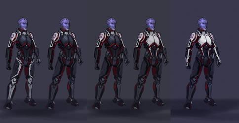 Aria armor sketches by LuckyFK