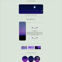 Purple night Aesthetic F2U by Tskaa