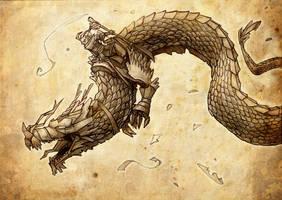 origami Dragon by SergioSilvan