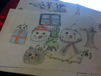 mogball christmas coloured by Aelux5216
