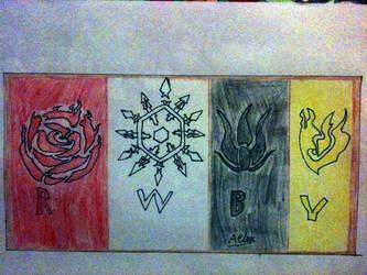 Team RWBY symbols by Aelux5216