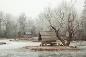 Frozen lake II by szorny-stock
