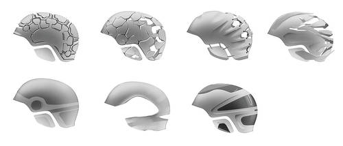 One hundred helmets - pt. 2 by everydaydennis