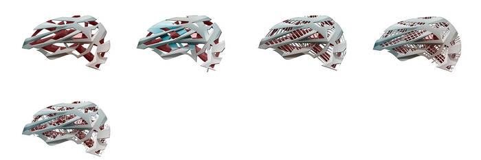 One hundred helmets - pt. 6 by everydaydennis