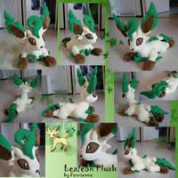 Leafeon plush by Fenrienne