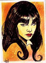 Vampirella 2012 Sketchcard 10 by RobertHack