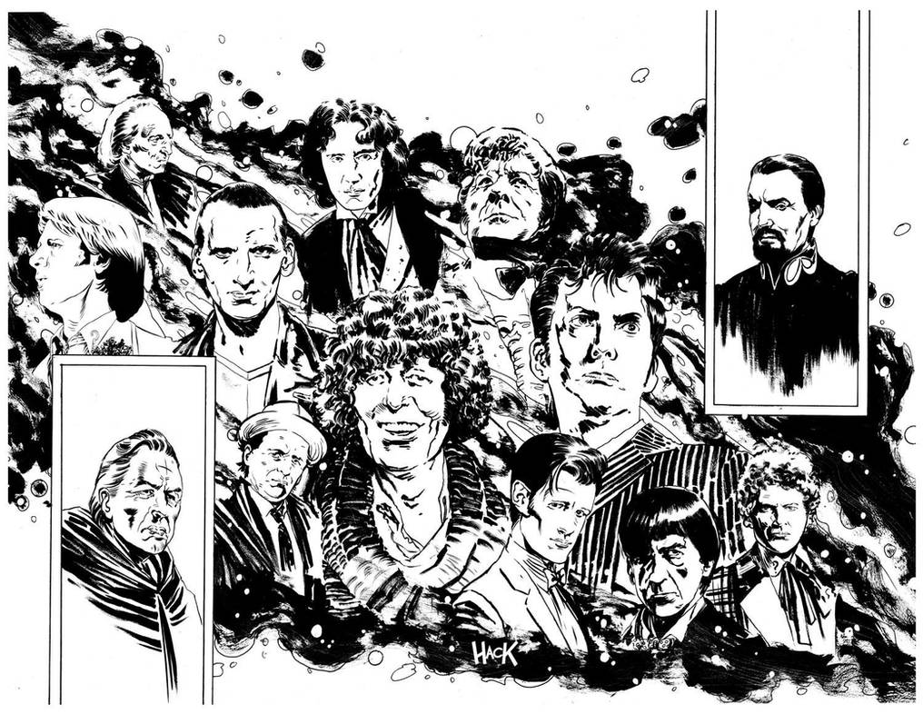 Doctor Who Prisoners of Time #12 inks by RobertHack