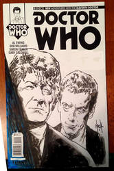 Doctor Who sketchcover. by RobertHack