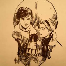 Sabrina and Harvey  by RobertHack