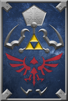 The Hylian Shield by ever-so-excited