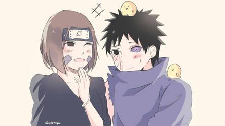 Obito and Rin by shotmya