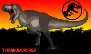 Jurassic Park Tyrannosaurus: Our lovely lady. by allotyrannosaurus