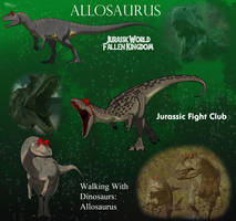 Childhood Allosaurus updated by allotyrannosaurus