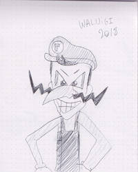 Waluigi drawing by Avgardiste