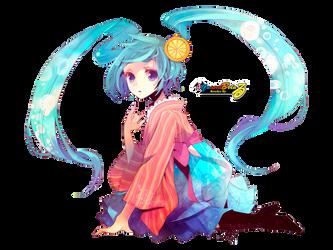 Miku Hatsune Render by alfaandbeta
