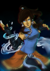 Avatar Korra by Evurinn
